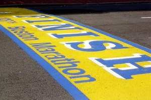 Boston Marathon Finish